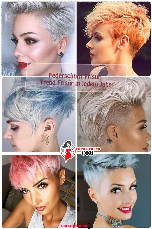 Federschnitt Frisur