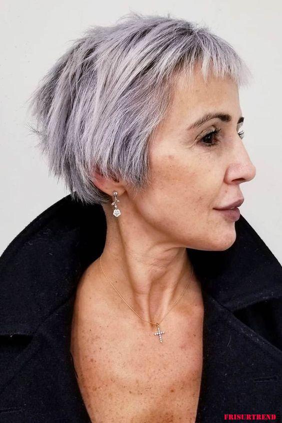 Kurzhaarfrisuren für feines Haar über 50